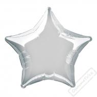 Nafukovací balónek fóliový Hvězda stříbrná 45cm