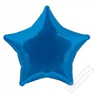 Nafukovací balónek fóliový Hvězda modrá 45cm