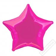 Nafukovací balónek fóliový Hvězda fuchsiová 45cm