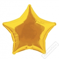 Nafukovací balónek fóliový Hvězda zlatá 45cm