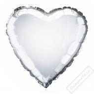 Nafukovací balónek fóliový Srdce stříbrné