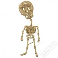 Dekorační glitrová kostřička zlatá