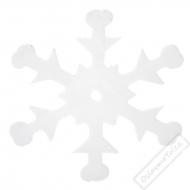 Dekorační konfety Sněhové vločky bílé