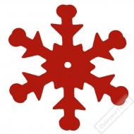 Dekorační konfety Sněhové vločky červené
