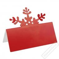 Papírové jmenovky na stůl Vločka Red