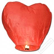 Létající lampion štěstí srdce