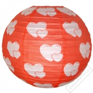Papírový lampion kulatý Love