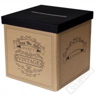 Krabice na peníze a přání Vintage