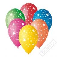 Latexový balónek s potiskem Hvězdy