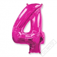 Nafukovací balón číslo 4 růžový 101cm