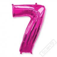 Nafukovací balón číslo 6 růžový 101cm