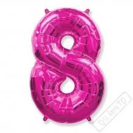 Nafukovací balón číslo 8 růžový 101cm