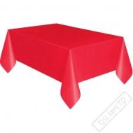 Plastový party ubrus červený