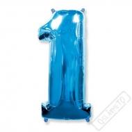 Nafukovací balón číslo 1 modrý 101cm