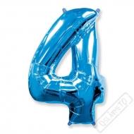 Nafukovací balón číslo 4 modrý 101cm