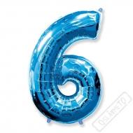 Nafukovací balón číslo 6 modrý 101cm