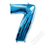Nafukovací balón číslo 7 modrý 101cm