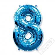 Nafukovací balón číslo 8 modrý 101cm