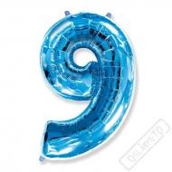 Nafukovací balón číslo 9 modrý 95cm