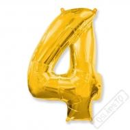 Nafukovací balón číslo 4 zlatý 95cm
