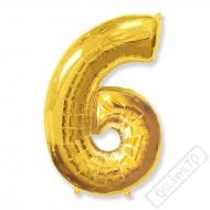 Nafukovací balón číslo 6 zlatý 95cm