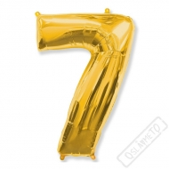 Nafukovací balón číslo 7 zlatý 101cm