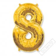 Nafukovací balón číslo 8 zlatý 101cm