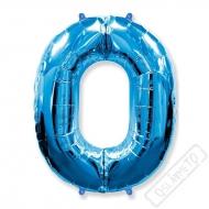 Nafukovací balón číslo 0 modrý 101cm