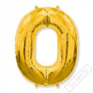 Nafukovací balón číslo 0 zlatý 101cm