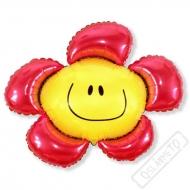 Nafukovací balón fóliový Květinka červená 100cm