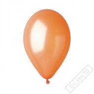Metalický nafukovací balónek latex oranžový