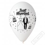 Latexový balónek s potiskem Just Married