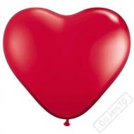 Nafukovací balónek latexový srdce červené 45cm