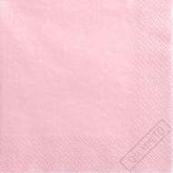 Jednobarevné papírové ubrousky růžové