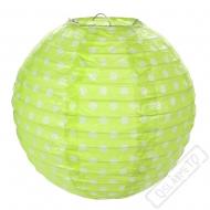 Závěsný lampion s puntíky zelený