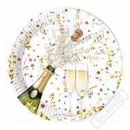 Papírové party talíře Sparkling Champagne