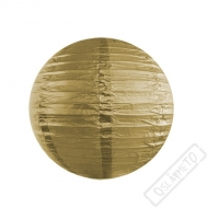 Papírový lampion kulatý zlatý 25cm