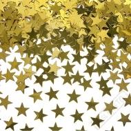 Dekorační konfety na stůl Hvězdy zlaté