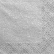 Metalické papírové ubrousky stříbrné