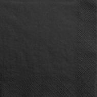 Jednobarevné papírové ubrousky černé