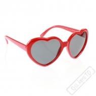 Party brýle Valentine červené