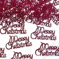 Dekorační konfety na stůl Merry Christmas