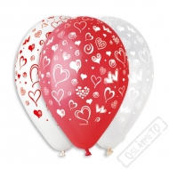 Latexový balónek s potiskem Srdce