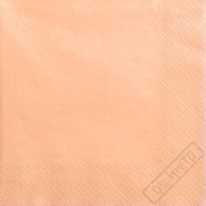 Jednobarevné papírové ubrousky meruňkové