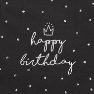 Papírové ubrousky Birthday Style černé