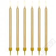 Dortové svíčky se stojánky Elegant zlaté