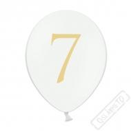 Nafukovací balónek latexový s číslem 7 bílý