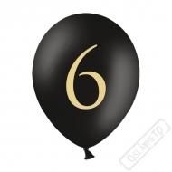 Nafukovací balónek latexový s číslem 6 černý