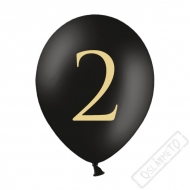 Nafukovací balónek latexový s číslem 2 černý