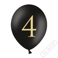 Nafukovací balónek latexový s číslem 4 černý